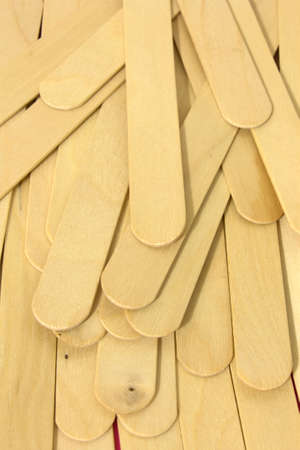 This is a photograph of wooden spatulas for waxing Stok Fotoğraf