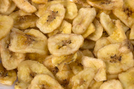 sweetened: This is a photograph of Sweet Banana Chips Stock Photo
