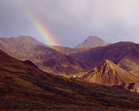 denali: rainbow over Denali