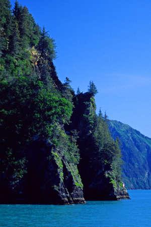 fjords: cliffs of the Kenai Fjords Alaska