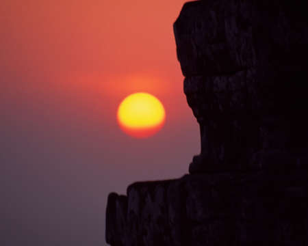 Sunset at Cambodian temple