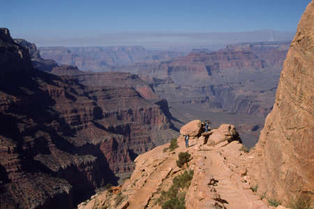 Grand Canyon trail Banco de Imagens