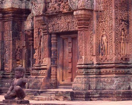 red angkor wat temple