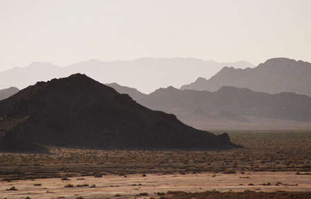 dark desert mountains