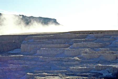 hot springs: steam off hot springs