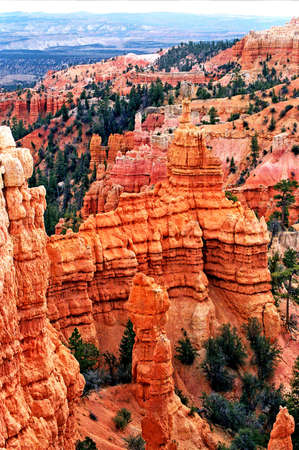 bryce red rock formations Imagens