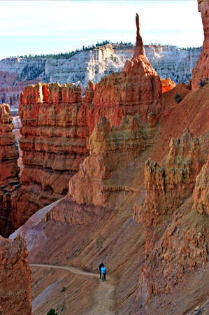 tall rock formation in bryce canyon