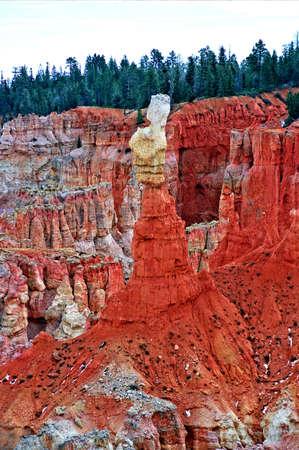 背の高いブライスの岩塔 写真素材
