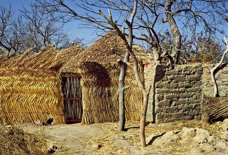 niger village hut Фото со стока