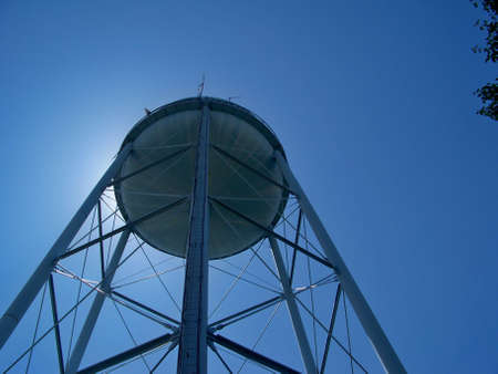 blue  water  tower