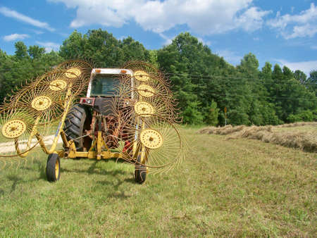 a  hay  rake  with  blades  up