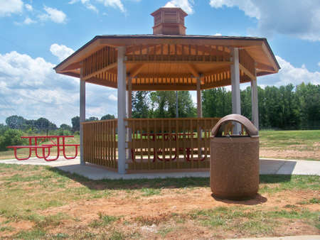 a  park  gazebo Stock Photo
