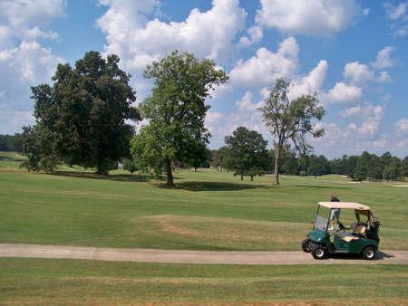 golf  cart  2 Stock Photo