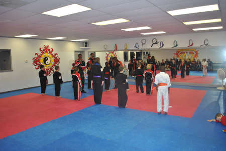 Indian  Land, SC  Dec  12, 2011  karate  class  award  ceramony
