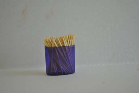 toothpicks  for  cleaning  food  from  teeth Stock Photo