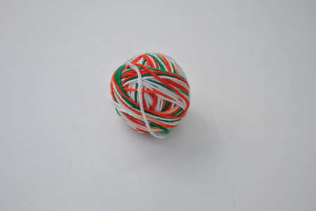 a  ball  of  multi  colored  yarn