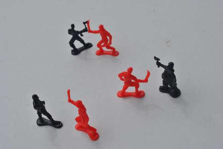 plastic  fighting  pirates Stock Photo