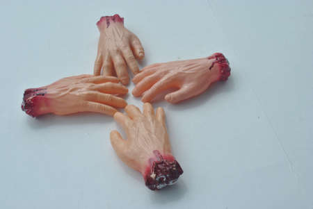 a  roup  of  severed  hands