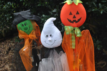 halloween  yard  decorations Stock Photo
