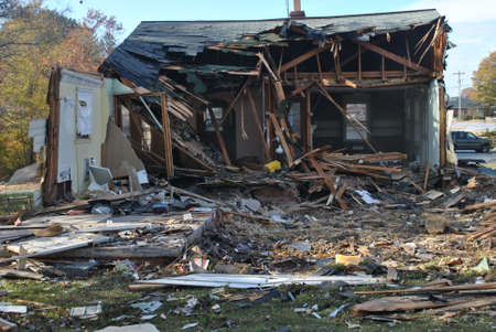 broken house: home   demolition     Stock Photo