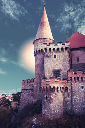 castle in a fairytale landscape Stock Photo