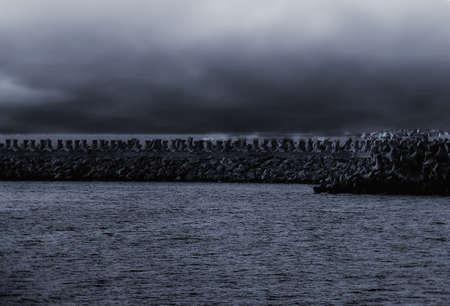 fog on the sea Stock Photo