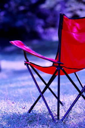waiting chair on grass photo