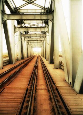 Old steel railroad bridge