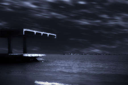 night on sea