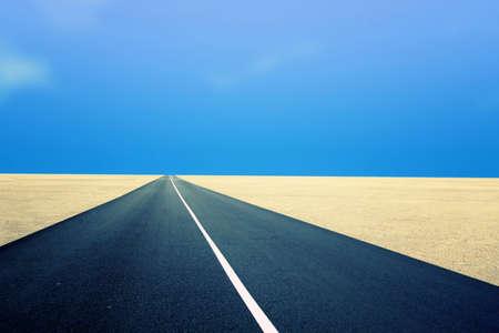 road leading in the desert