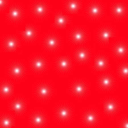 white little stars on red background Stock Photo