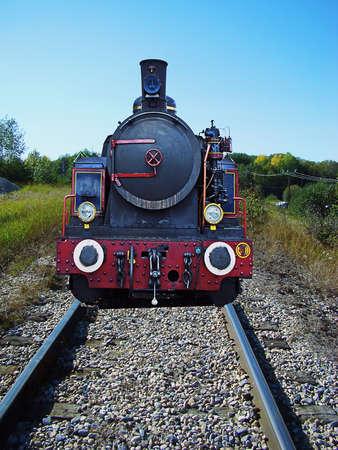 old locomotive still running on the tracks