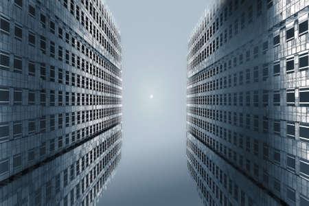tall building under moon light shadow