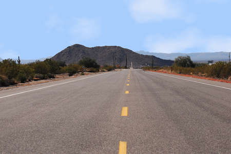american road in an isolated area landscape Stock Photo - 8330184