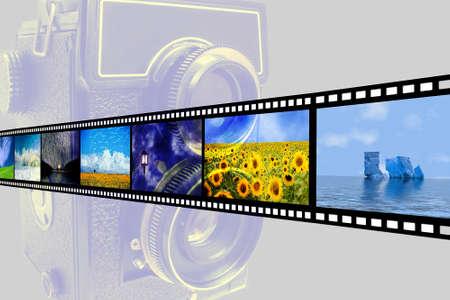 film camera and celuloid film display mode photo