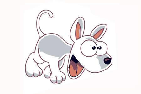 funny cartooned dog with brown color model