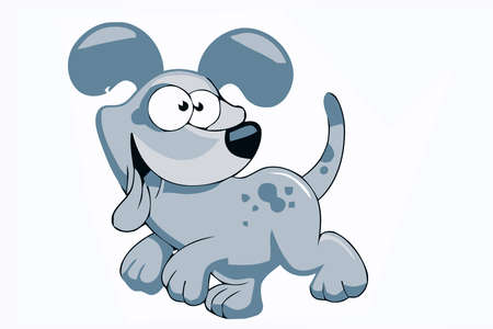 funny cartooned dog with brown color model photo