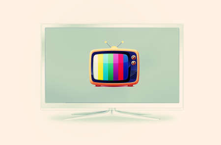 modern and old tv sets one in another Stock Photo - 9012264