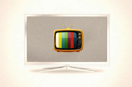 modern and old tv sets one in another Stock Photo - 9012367