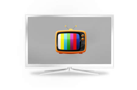 modern and old tv sets one in another Stock Photo - 9012265