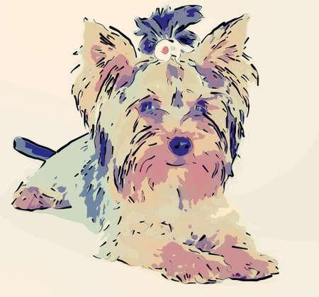 puppy dog comic cartoon on white background Stock Photo - 9333627
