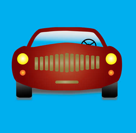 fast car on blue background