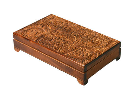 ethnic fashion creative brown old isolated casket photo