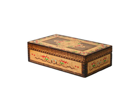 box container decoration brown casket  isolated ethnic photo