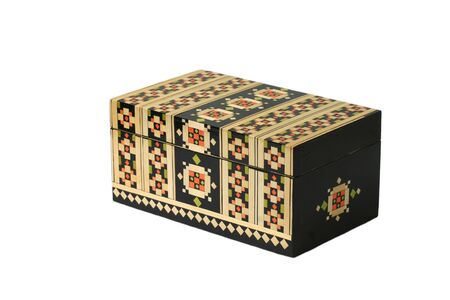 Casket backgrounds chest box traditional decorative isolated photo