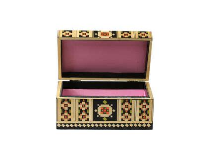 decorative texture design art decoration casket isolated photo