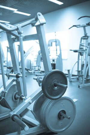 kilograms: Gym for physical culture and health Stock Photo