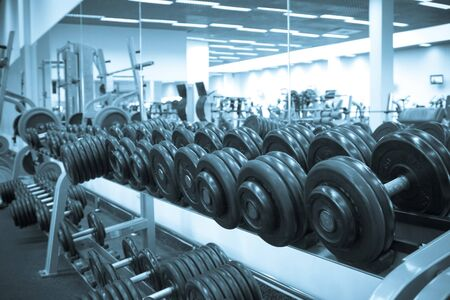 Dumbbells of the big weight for employment by bodybuilging Stock Photo - 4331267