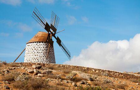 Traditional windmill in La Oliva, Fuerteventura, Canary Islands