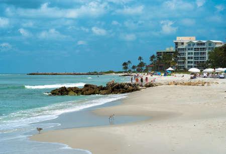 Oever van het strand in Naples, Florida USA Stockfoto